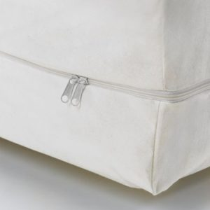 Anti-dust mite mattress cover with zipper